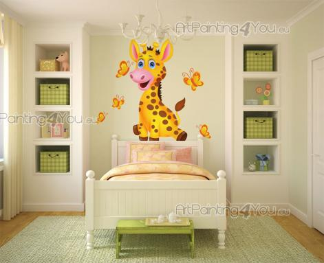 Jungle Wall Stickers for Kids - What is the most curious safari animal? It's probably the giraffe with its long neck, long legs and even a long tongue! Give your baby or kid some sav...