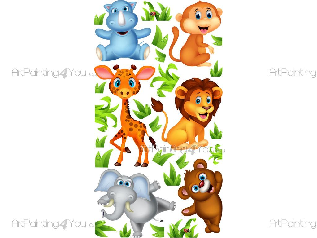 Stickers Muraux Chambre Bébé Safari Animaux Jungle (Kit ...