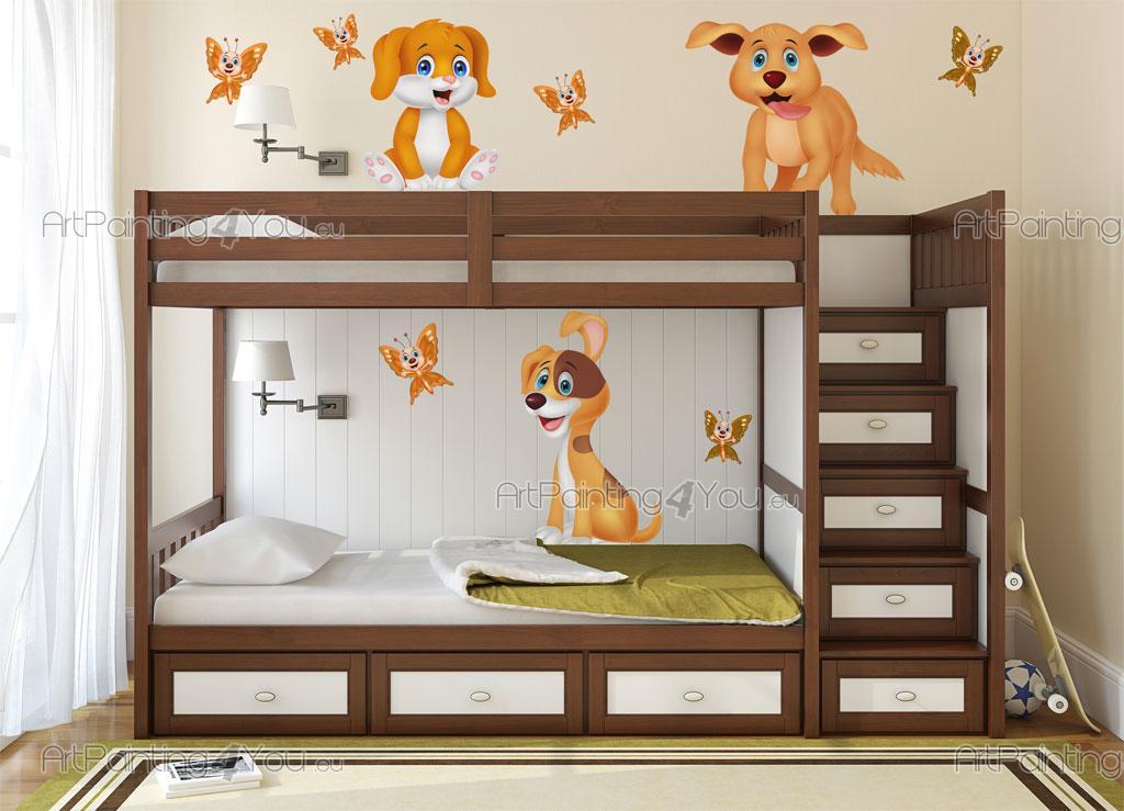 Cane cuccioli adesivi murali bambini vdi1175it for Adesivi murali x bambini