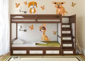 Wall Stickers for Kids - Wall decals for a nursery, baby or kids room. Children love to play with animals, specially the very sociable, playful dogs. For kids who adore pets, ...