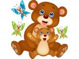 Jungle Wall Stickers for Kids - Isn't a soft teddy bear one of the best toys to give to a baby or child? Decorate the kids room with an adorable set of wall decals that includes two ...