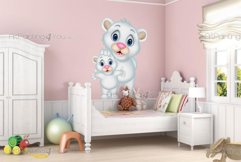 Stickers chambre b b ours 2004fr for Orientation lit enfant