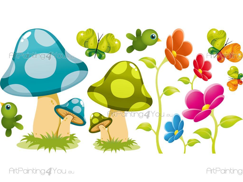 Vinilos Infantiles Seta Flores Artpainting4you Eu Vdi1181es