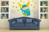 Wall Stickers for Kids - Sleep well! Turn the nursery or baby room into a place full of tenderness with a wall sticker kit. Place on a wall, amongst little stars, this baby bo...