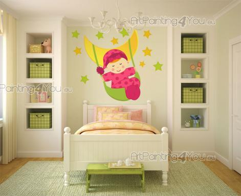 stickers chambre b b lune toiles kit 2010fr. Black Bedroom Furniture Sets. Home Design Ideas
