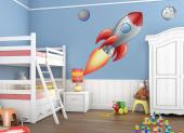 Space Crafts (Kit) - Travel with your kids to the moon and back and do not forget to plant a flag like the Apollo 11 crew did in 1969! Place these wall decals of a red and silver rocket, the Moon and the Earth in the kids room and imagine floating in outer space.