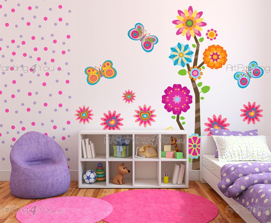 wandtattoo wandsticker kinderzimmer blumen schmetterlinge kit 2028de. Black Bedroom Furniture Sets. Home Design Ideas