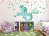 Under the Sea Wall Stickers Nursery - The sea horse is a fish that resembles the hippocampus, a creature that served the Greek god Poseidon and had the upper body of a horse and a long fis...