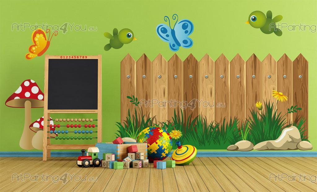 Vinilos infantiles jard n cerca kit 2127es for Kinderzimmer zaun