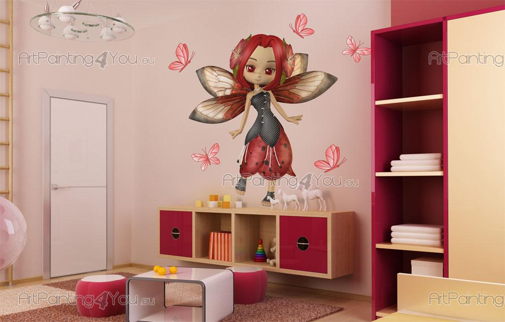 Stickers chambre b b f es papillons kit 2146fr for Stickers papillon chambre bebe