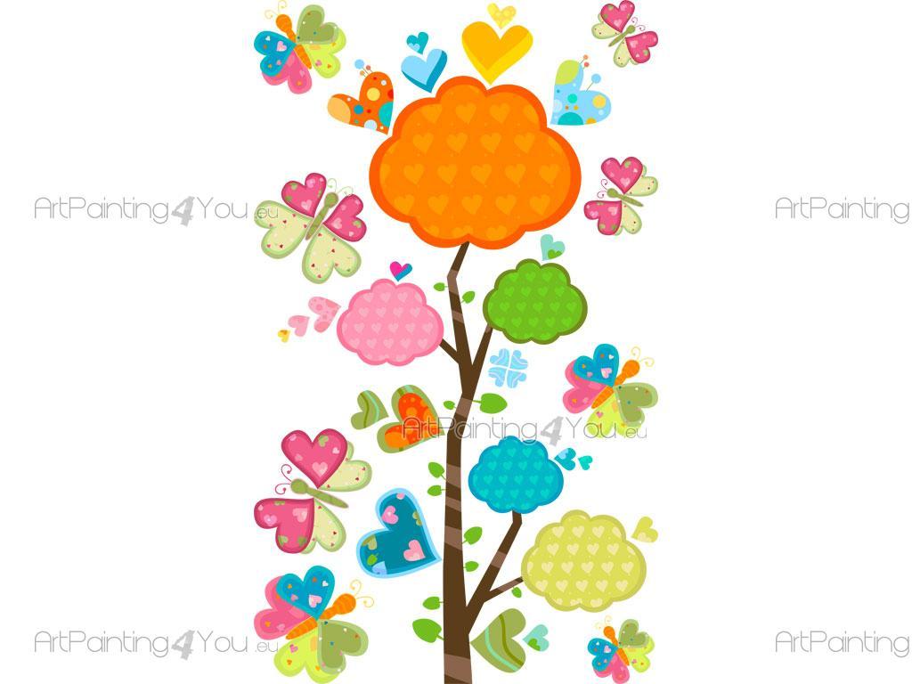 Vinilos Infantiles Flores Mariposas Kit Artpainting4you Eu