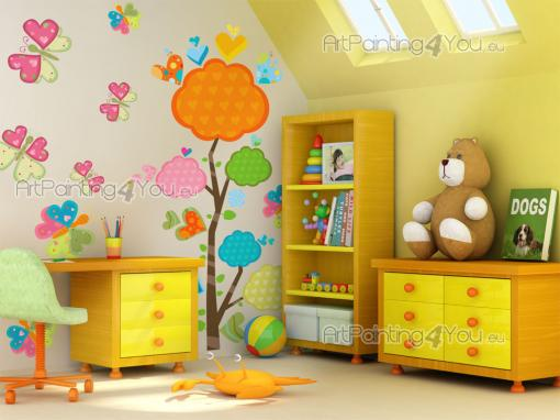 Wall Stickers for Kids - Wall decals for baby and kids rooms. Place the stickers in this kit on a clean, empty wall and let the gorgeous butterflies and the heart-bearing tree...