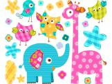 Jungle Wall Stickers for Kids - Is the baby's room a bit too soft and simple when it comes to colour? Apply all around the cradle or bed these adorable wall decals for kids inspired ...