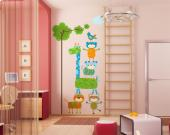 Apen & Giraffe - Muurstickers Jungle Babykamer