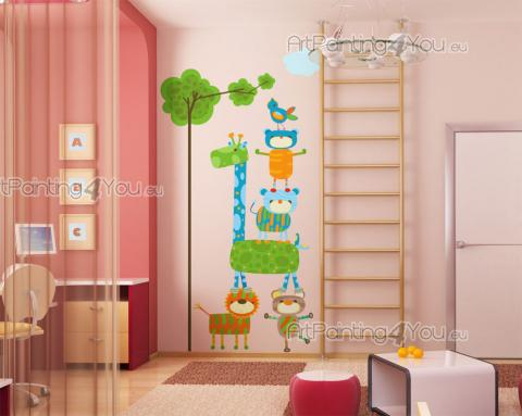 Jungle Wall Stickers for Kids - Be creative when decorating the room of your baby or kid! Apply these patchwork-inspired wall decals on a bland wall and anyway you or the child wants...