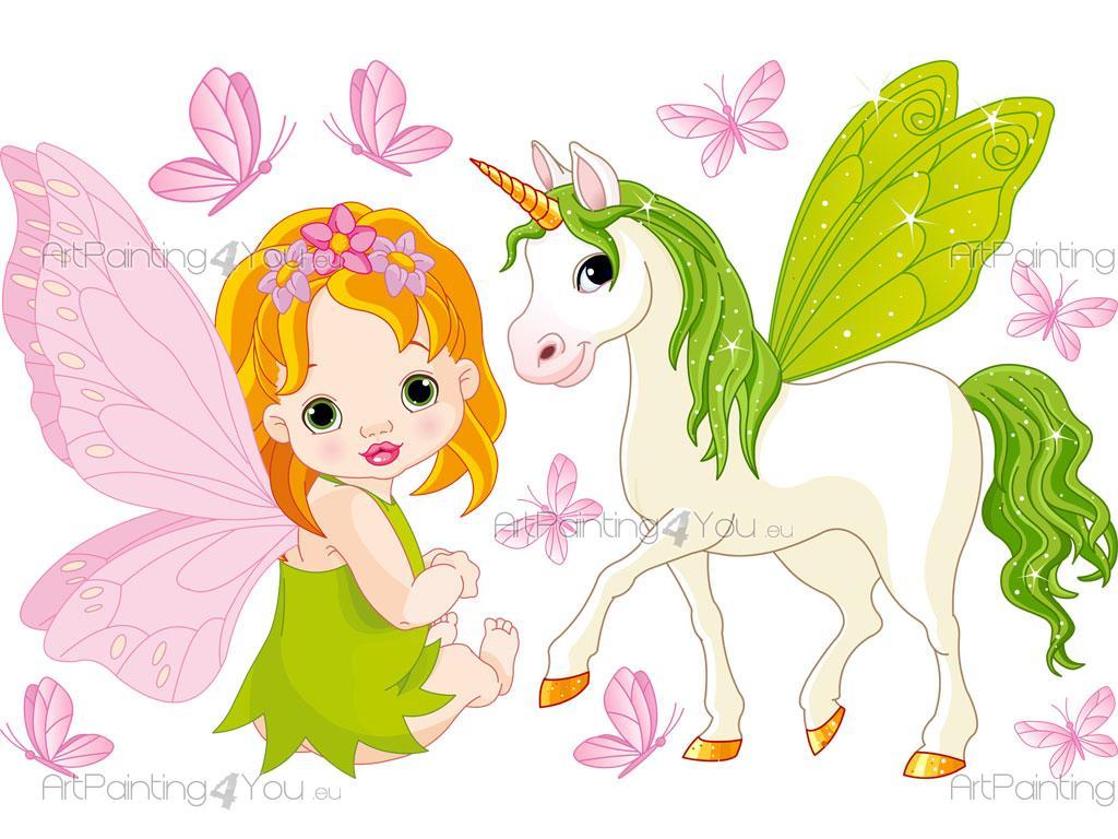 Imagenes De Unicornios Infantiles: Autocolantes Decorativos Infantil Fadas & Unicórnios (Kit