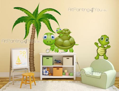 Wall Stickers for Kids - Turtles are probably the reptiles people like the most. They aren't venomous and are a symbol of longevity. If your kid loves all kinds of turtles, de...