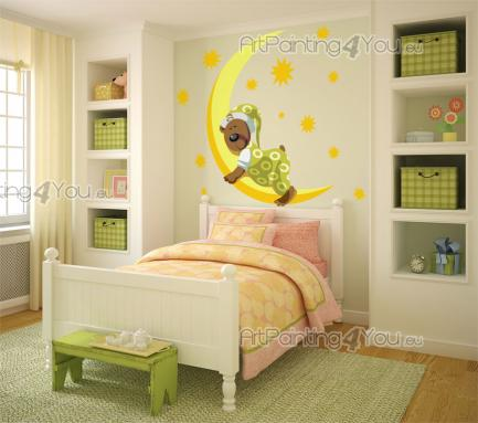 Wall Stickers for Kids - Wall decals for baby and kids room. Be comfortable when you fall asleep. Children love soft pillows and colourful duvets, but the cute little bear you...