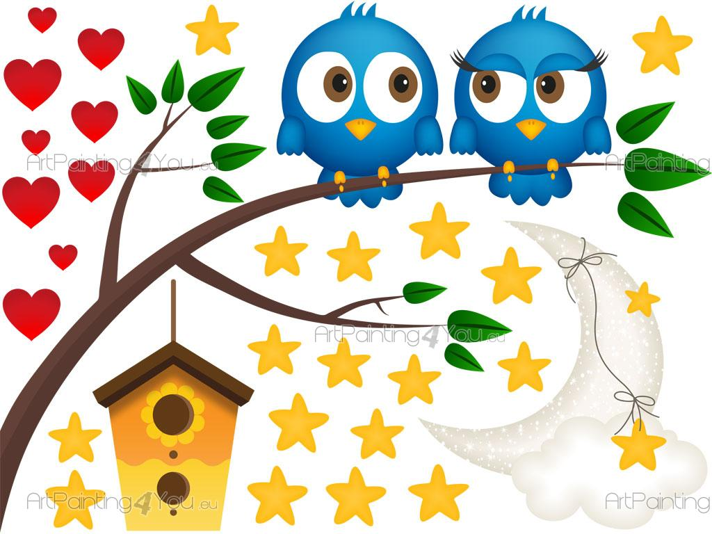 cute owls wall decals for kids vdi1216en artpainting4you eu