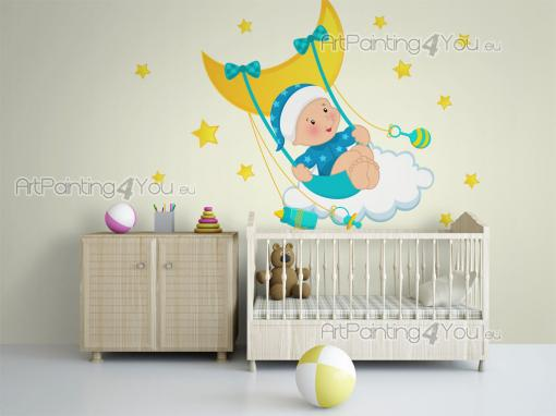 Wall Stickers for Kids - Time to go to bed! Let your baby enjoy a good night of sleep in the company of one of our wall sticker kits. Apply on a nursery or room wall, amidst d...