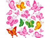 Wall Stickers for Kids - Butterflies are gracious beings. They flutter their wings in order to fly and the Sun makes them glow like gems. Decorate a baby or kid room with colo...