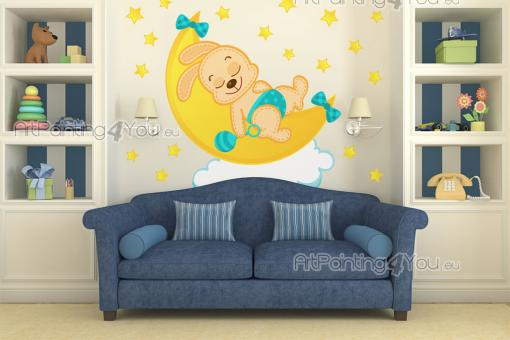 Wall Stickers for Kids - Nursery and baby room wall decals. Newborns sleep more than 14 hours a day, so it's a neat idea to get them a sleep companion. Place above the little ...