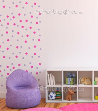 Wall Stickers for Kids - Your child's bedroom is completely furnished! Now all your baby or little girl needs is a bit more of colour. What about this wall decal set of pink a...