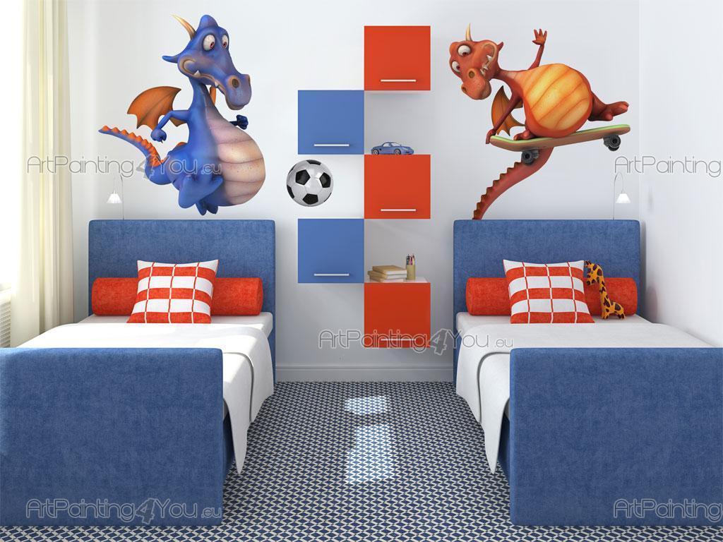 Adesivi murali bambini drago (2521it)