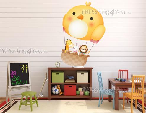 Wall Stickers for Kids - Fly with your children across the skies of your imagination with this wall decal for the decoration of the baby or kids room. Hop on the basket attach...
