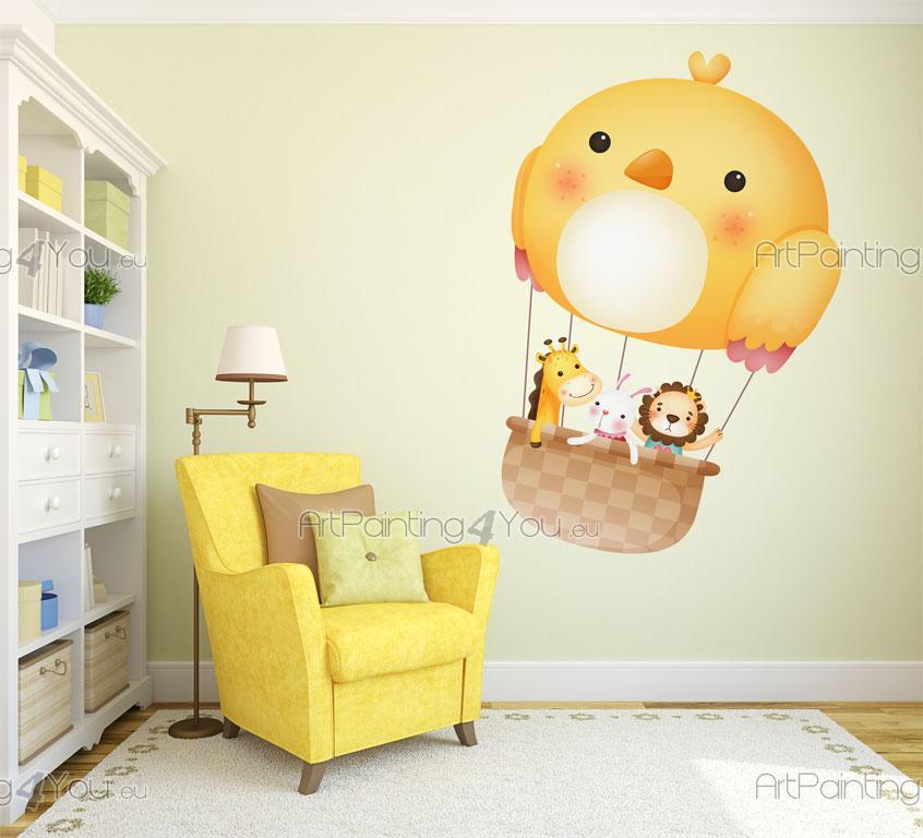 Wandtattoo & wandsticker kinderzimmer tieren & heissluftballon ...