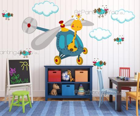 Wall Stickers for Kids - Colourful wall decals for baby and kids rooms! Bring some joy into the children's bedroom with this kit of stickers, but be careful, for this clumsy g...
