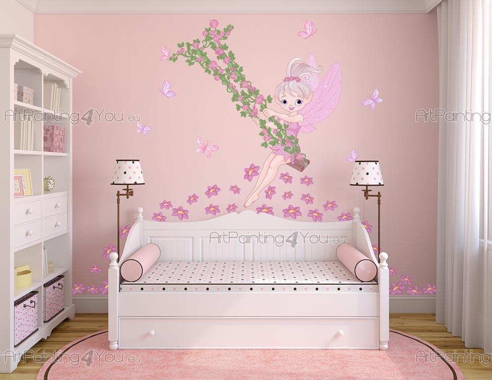 Stickers murali per camere ragazze fata fiori for Bordi adesivi per camerette