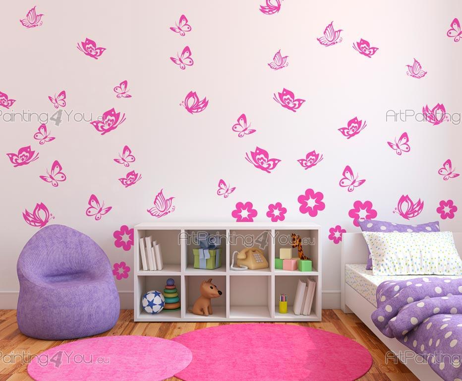 Wandtattoo Babyzimmer Schmetterlinge (Kit)   ArtPainting4You.eu ...