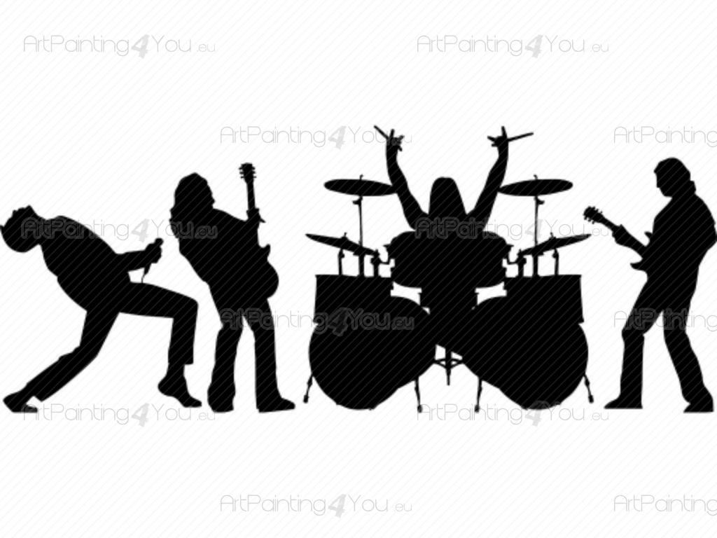 Rock Band Silhouette | www.imgkid.com - The Image Kid Has It!