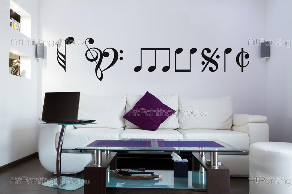 Adhesivos decorativos notas musicales for Vinilos decorativos infantiles musicales