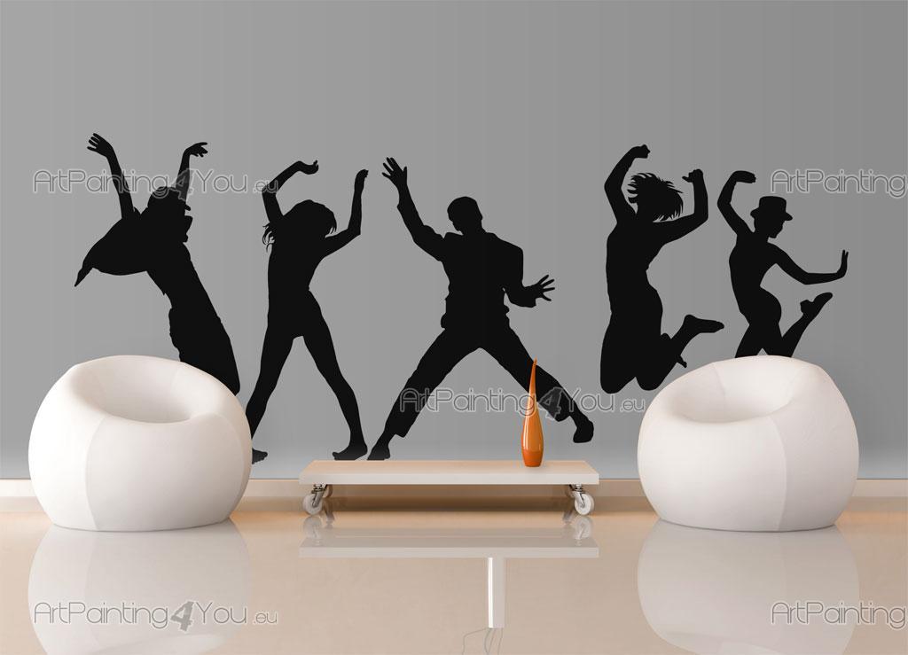 Danseurs autocollants muraux vdm1018fr for Autocollants muraux