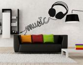 Headphones - Music & Dance Wall Stickers