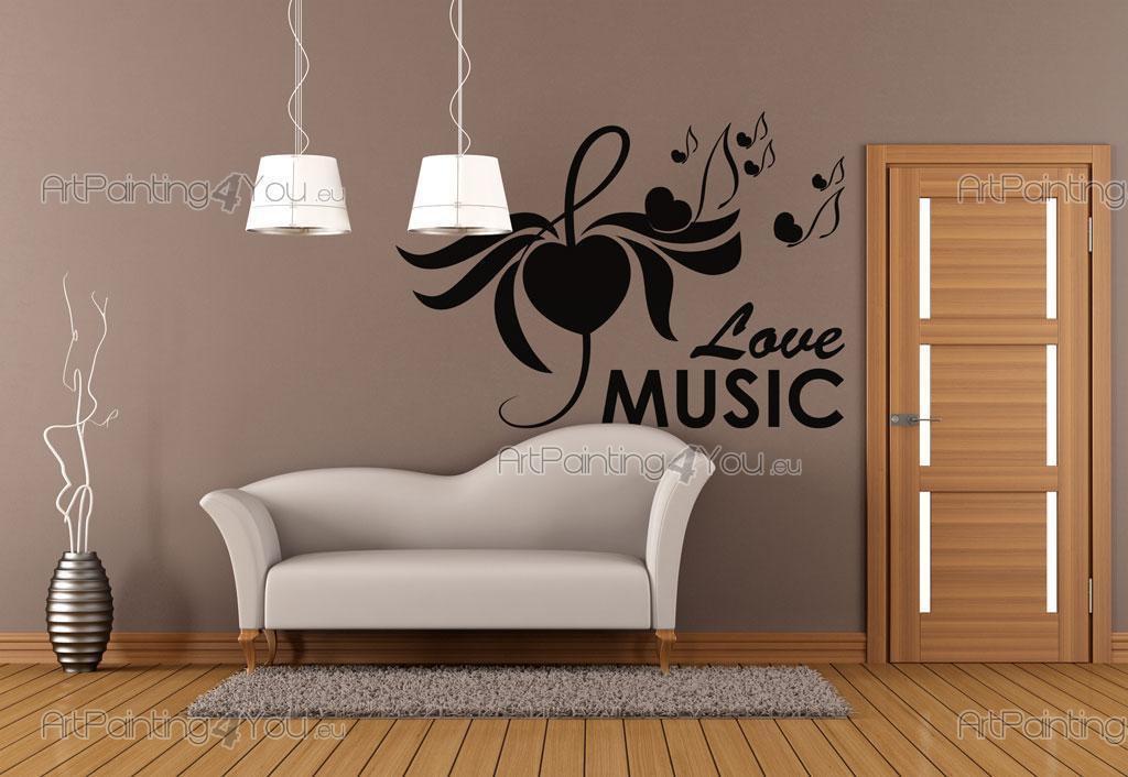 Adhesivos decorativos notas musicales for Vinilos decorativos pared musicales