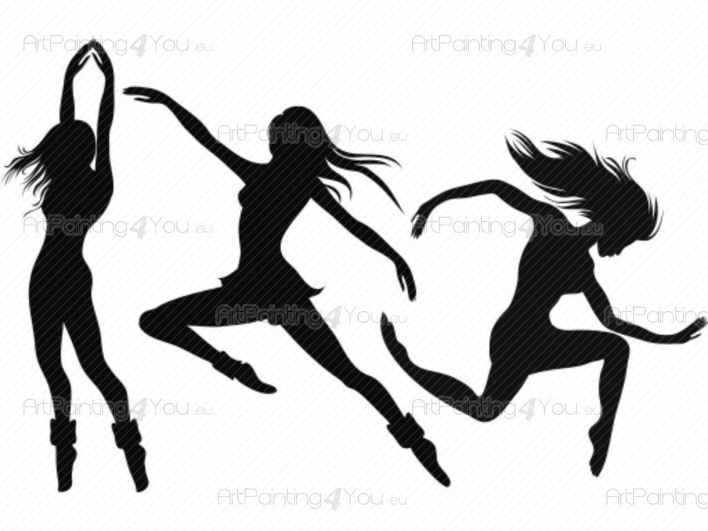 Autocollants muraux dance moderne for Dans x