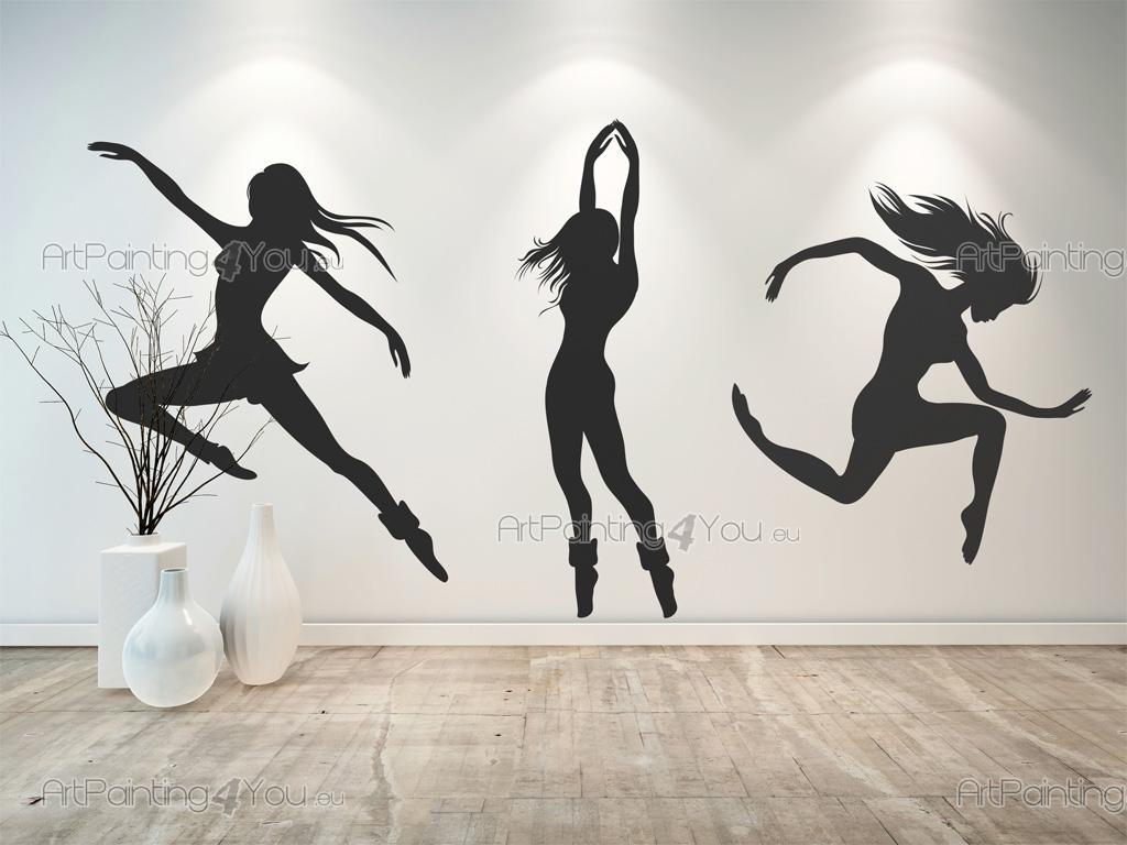 Muurstickers muziek dans moderne dans 2479nl for Dans x