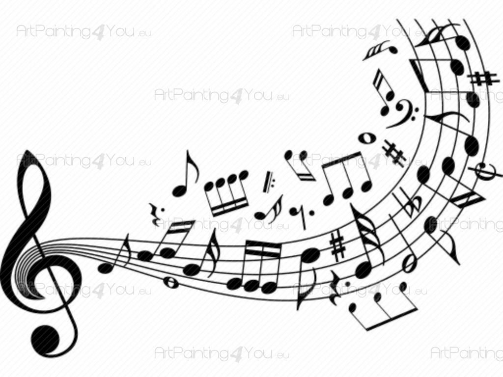 Adhesivos Decorativos Notas Musicales Artpainting4youeu
