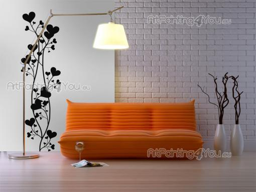 Floral Heart - Romantic Wall Stickers
