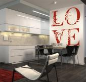 Wall Stickers Quotes - Quotes and words decals for a bedroom or kitchen. If love is what unites you to whom you share the house with, apply a romantic sticker with a floral ...