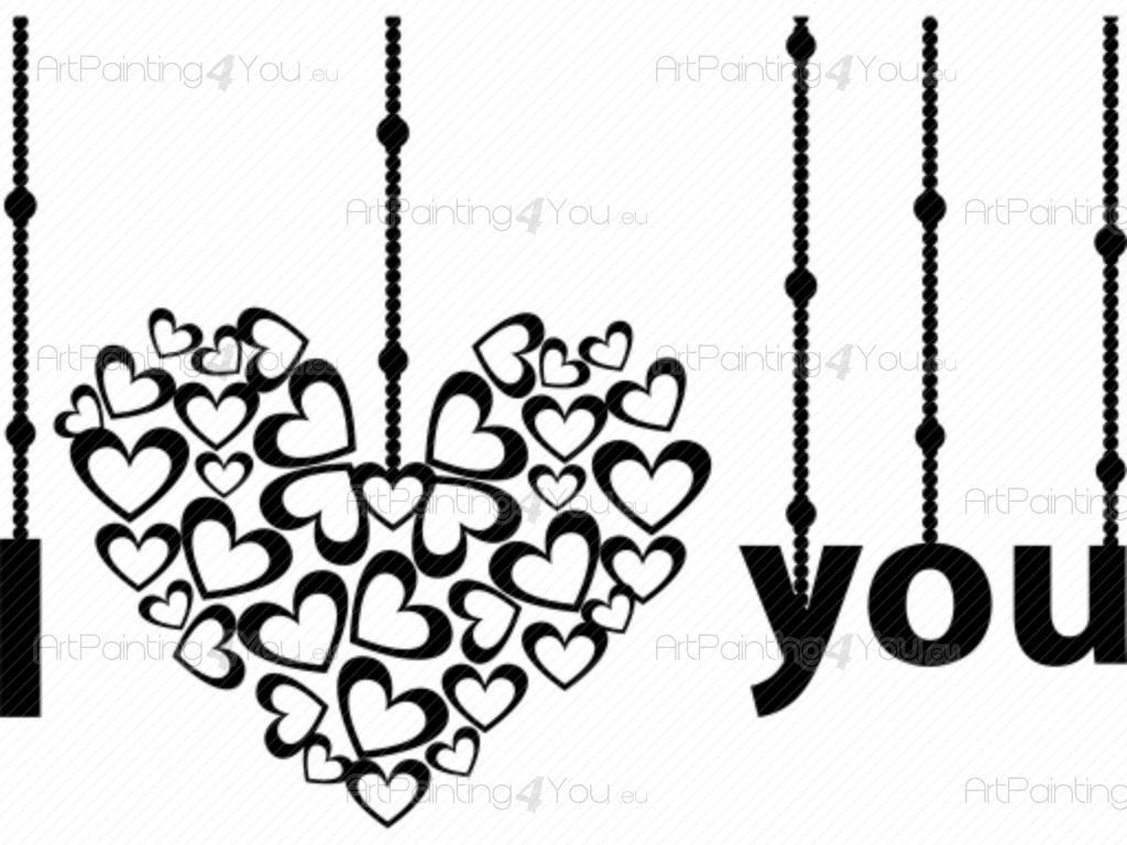 Adhesivos decorativos frases amor palabras vdr1027es Vinilos de amor