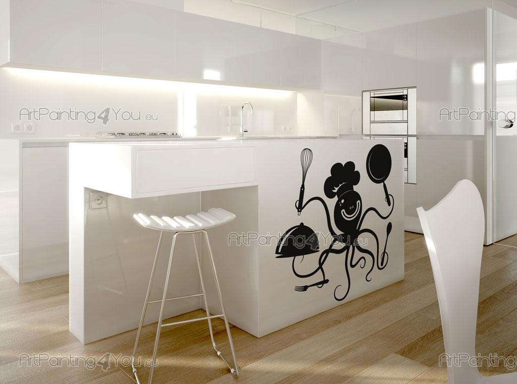 Adesivi murali capocuoco vds1017it for Adesivi x cucina