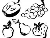 Kitchen Wall Stickers - Wall stickers for a cozy kitchen decor with health-friendly intentions. Go for our fruit decals set featuring the powerful apple, juicy grapes and pea...