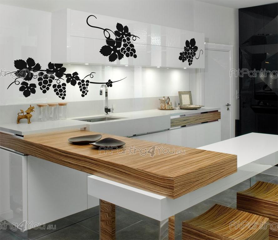 Muurstickers Keuken Decoratie : Grape Kitchen Stickers Wall
