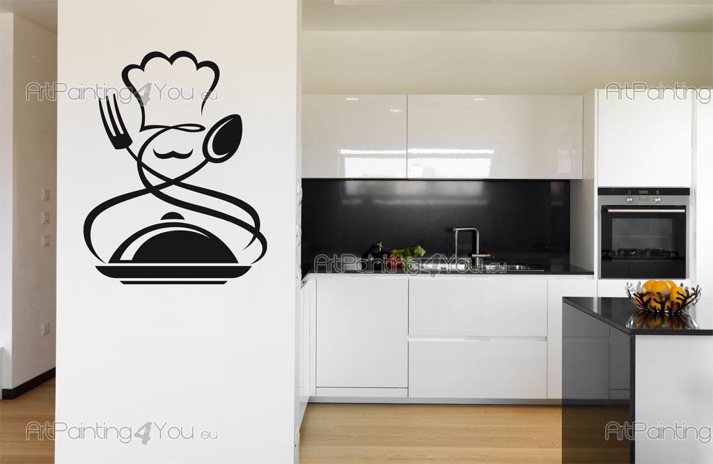 Fotobehang Keuken Design : Muurstickers Keuken Kok Design (1426nl)