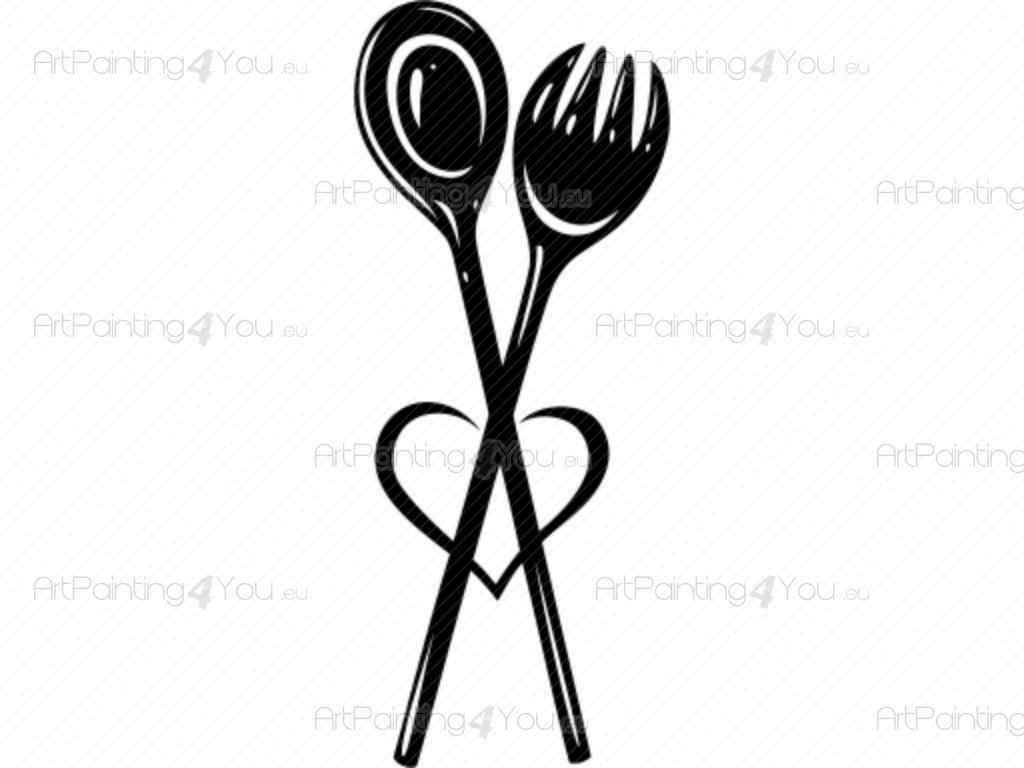 Vinilos Decorativos Cocina Cubiertos | ArtPainting4You.eu® | (VDS1034es)