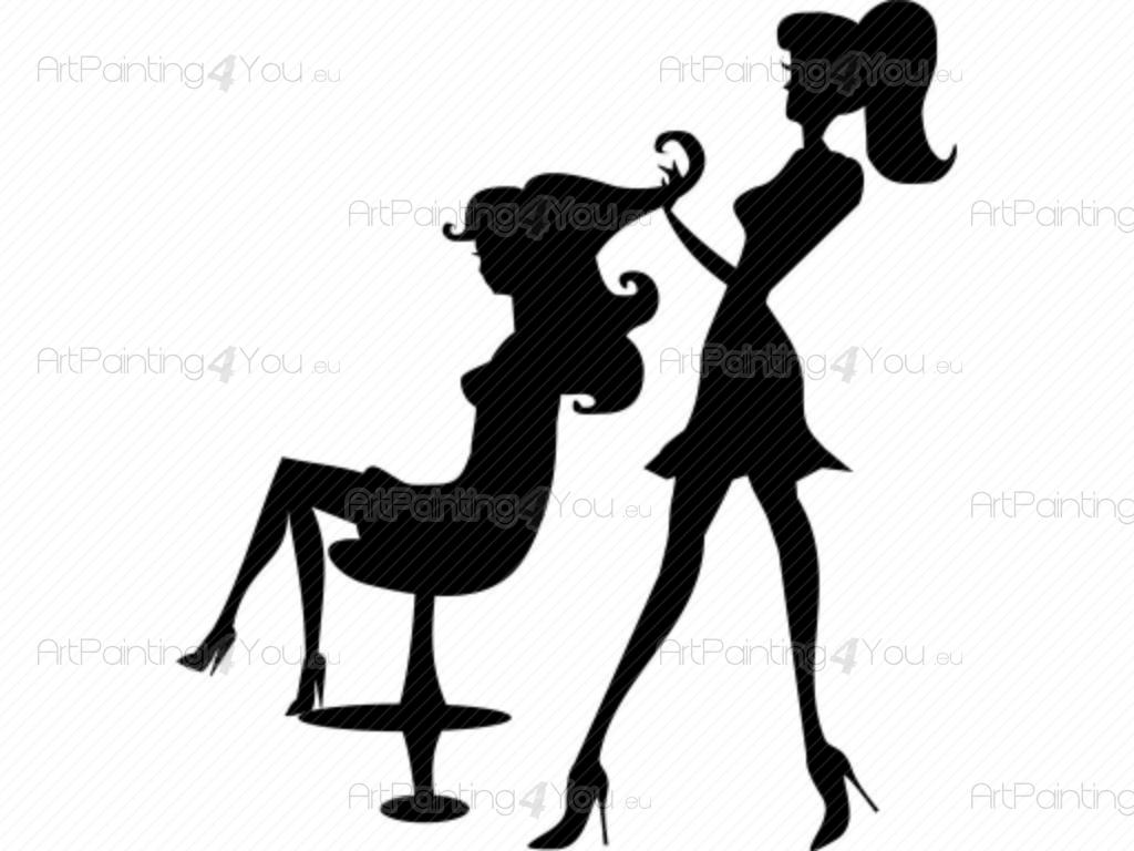 Wall stickers hair salon vds1043en for Stickers para pared decorativos